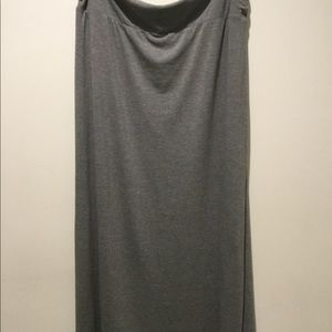 Faded Glory  Gray Maxi Skirt -Size XXL- Never Worn